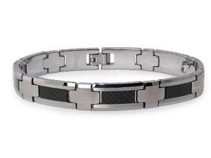 Tungsten Carbon Fiber Inlay Bracelet