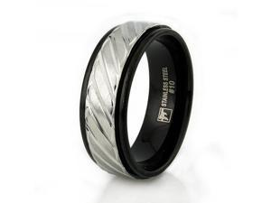 Two-Tone Stainless Steel Ring