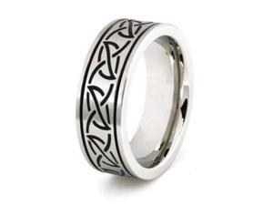 Stainless Steel Ring w/ Tribal Leaf Design