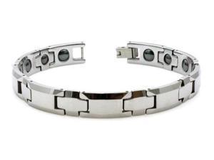 Tungsten Carbide Link Bracelet w/ Magnet