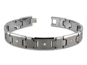Tungsten 0.03ctw Diamond Bracelet