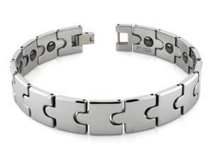 Tungsten Carbide Puzzle Link Bracelet w/ Magnet