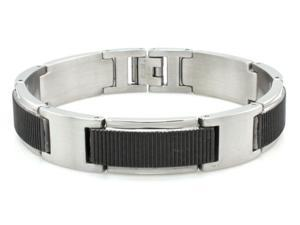 Two-Tone Stainless Steel Gladiator Bracelet 8.5""