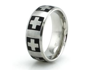 Stainless Steel Swiss Cross Ring