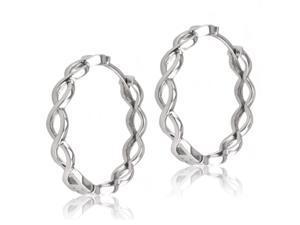 Sterling Silver Infinity Hoop Earrings