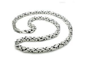 6.5mm Stainless Steel Imperial Box Necklace 24""