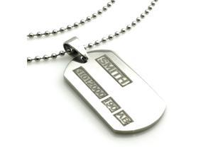 Personalized Custom Grunge Engraved Stainless Steel ID Dog Tag