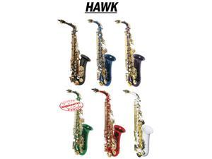 HAWK COLOR ALTO SAXOPHONE OUTFIT RED