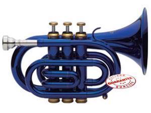 Fever Blue Pocket Trumpet With Case, WALPOKL-BL