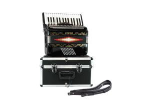Fever Piano Accordion 3 Switches 30 Keys 48 Bass, Black