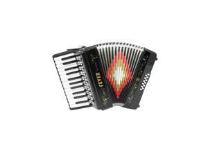 Fever Piano Accordion 25 Keys 12 Bass, Black