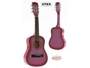 Star Kids Acoustic Toy Guitar 27 Inches Color Pink