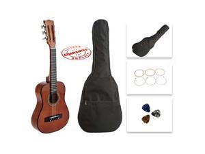 Star Kids Acoustic Toy Guitar 27 Inches Brown with Bag, Strings & Picks