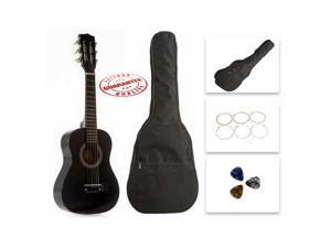 Star Kids Acoustic Toy Guitar 27 Inches Black with Bag, Strings & Picks