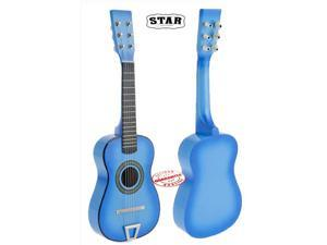 Star Kids Acoustic Toy Guitar 23 Inches Color Light Blue