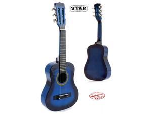 Star Kids Acoustic Toy Guitar 31 Inches Color Blue