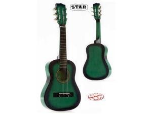 Star Kids Acoustic Toy Guitar 27 Inches Color Green