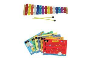 D'Luca 15 Note Children Xylophone Glockenspiel with Music Cards