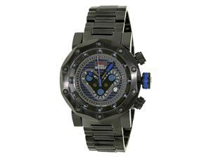 Swiss Precimax Vector Pro SP13093 Men's Stainless Steel Chronograph Watch - Black w/ Blue Accent