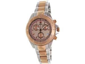 Swiss Precimax SP12183 Women's Manhattan Elite Two-Tone Stainless-Steel Swiss Chronograph Watch with Rose-Gold Dial