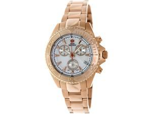 Swiss Precimax SP12189 Women's Manhattan Elite Rose-Gold Stainless-Steel Swiss Chronograph Watch with Mother-Of-Pearl Dial