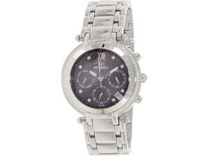 Precimax PX13347  Women's Glimmer Elite Silver Stainless-Steel Swiss Chronograph Watch with Mother-Of-Pearl Dial