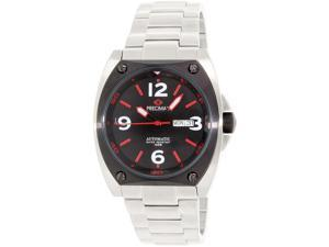 Precimax PX13211 Men's Fortis Automatic Silver Stainless-Steel Automatic Watch with Black Dial