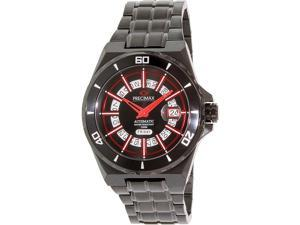 Swiss Precimax Stark Automatic PX13216 Men's Black Stainless-Steel Automatic Watch with Black Dial