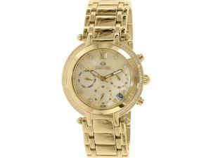 Precimax PX13349 Women's Glimmer Elite Gold Stainless-Steel Swiss Chronograph Watch with Mother-Of-Pearl Dial