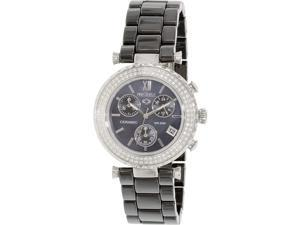 Precimax PX13374 Women's Lily Elite Crystal Black Ceramic Quartz Watch