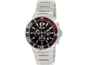 Swiss Precimax Instinct Pro PX14013 Men's Silver Stainless-Steel Quartz Watch with Black Dial