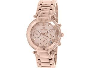 Precimax PX13348 Women's Glimmer Elite Rose-Gold Stainless-Steel Swiss Chronograph Watch with Mother-Of-Pearl Dial