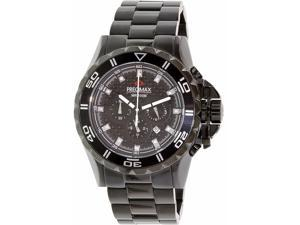 Swiss Precimax PX12202 Men's Carbon Pro Black Stainless-Steel Quartz Watch