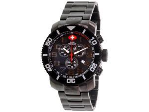 Swiss Precimax Verto Pro SP13032 Men's Black Dial Stainless Steel Chronograph Watch