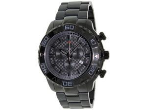 Swiss Precimax Men's Valor Elite SP12208 Black Stainless-Steel Swiss Chronograph Watch with Black Dial