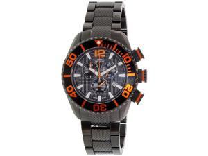 Swiss Precimax Men's Deep Blue Pro II SP12176 Black Stainless-Steel Swiss Chronograph Watch with Black Dial