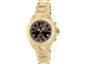 Swiss Precimax SP12185 Women's Manhattan Elite Gold Stainless-Steel Swiss Chronograph Watch with Mother-Of-Pearl Dial