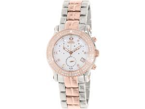 Swiss Precimax SP13326 Women's Tribeca Elite Two-Tone Stainless-Steel Swiss Chronograph Watch with Mother-Of-Pearl Dial