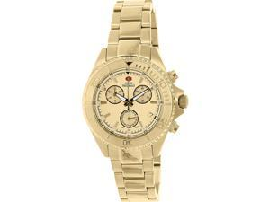 Swiss Precimax SP12184 Women's Manhattan Elite Gold Stainless-Steel Swiss Chronograph Watch with Gold Dial