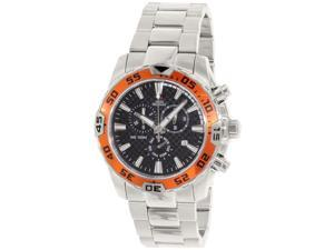 Swiss Precimax SP12150 Men's Formula-7 Pro Silver Stainless-Steel Swiss Chronograph Watch with Black Dial