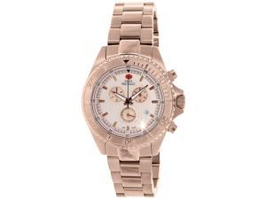 Swiss Precimax Maritime Pro SP12195 Men's Rose-Gold Stainless-Steel Swiss Chronograph Watch with Rose-Gold Dial