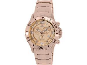 Swiss Precimax SP13067 Tarsis Pro Men's Rose-Gold Stainless-Steel Chronograph Watch with Rose-Gold Dial