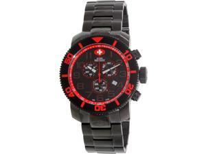 Swiss Precimax Men's Verto Pro SP13035 Black Stainless-Steel Swiss Chronograph Watch with Black Dial