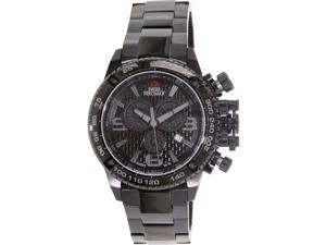 Swiss Precimax Forge Pro SP13244 Men's Black Dial Stainless Steel Chronograph Watch