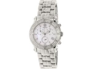 Swiss Precimax SP13322 Women's Tribeca Elite Silver Stainless-Steel Swiss Chronograph Watch with Mother-Of-Pearl Dial