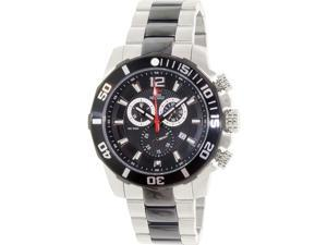 Swiss Precimax Men's Crew Pro SP13259 Two-Tone Stainless-Steel Swiss Chronograph Watch with Black Dial