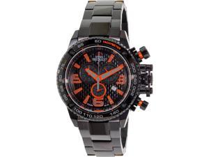 Swiss Precimax Men's Forge Pro SP13241 Black Stainless-Steel Swiss Chronograph Watch with Black Dial