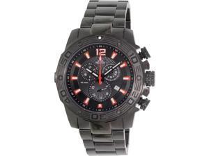 Swiss Precimax SP13264 Legion Pro Men's Black Stainless-Steel Swiss Chronograph Watch with Black Dial