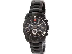 Swiss Precimax Recon Pro SP13121 Men's Black Dial Stainless Steel Swiss Chronograph Watch