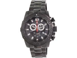 Swiss Precimax SP13262 Legion Pro Men's Black Stainless-Steel Swiss Chronograph Watch with Black Dial
